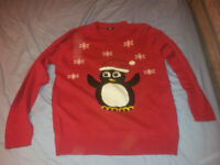 Cotton Traders Christmas Penguin Jumper