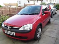 Vauxhall Corsa C, 2003, 1L Low Mileage, Perfect First Car!
