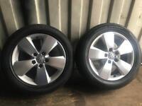 Volkswagen golf mk7 alloy wheels with good tyre set of 4