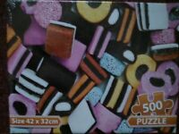 500 Piece Liquorice Allsorts Jigsaw Puzzle