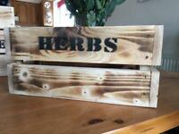 Handcrafted Wooden herb box...... ideal gift