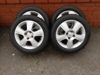 Vauxhall corsa akloy wheels