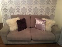 Grey large two seater sofa and one armchair