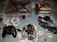 Original Xbox Crystal Console With 2 Control Pads & 11 Games