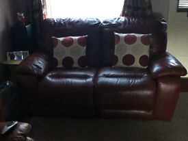 3+2 Seater Leather Electric Reclining Sofas