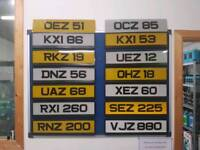 2 digit and 3 digit plates for sale