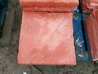 Red 450x450x38mm concrete Riven paving slabs