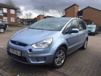 2007 Ford S Max Zetec 1.8 TDCi diesel estate MPV 7 Seater sky blue manual cheap family car 7 seats