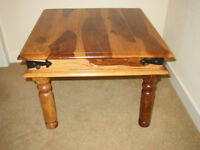 HARDWOOD OCCASIONAL / COFFEE / LAMP TABLE - 2FT X 2FT X 18INS HIGH