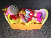 In the Night Garden talking Upsy Daisy in her bed