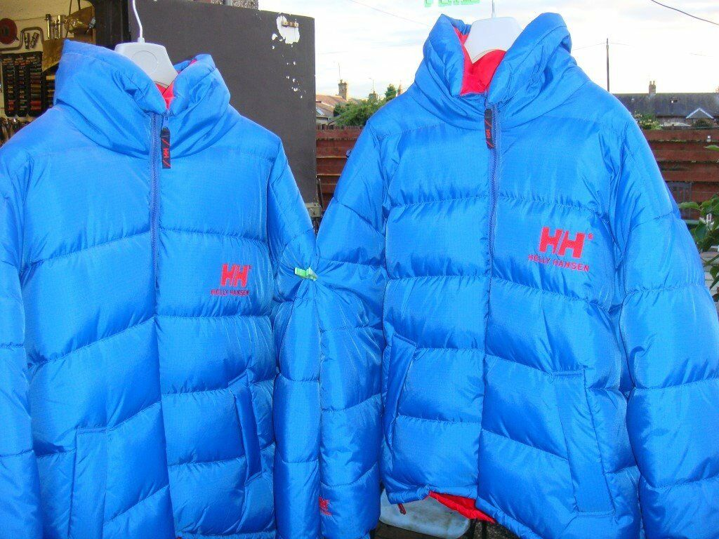 Helly Hansen Men's Down Reversible Blue Or Red Jacket Large and XXL. Like New £30 Each