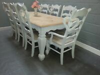 Extending Table and 8 chair Set - Bespoke
