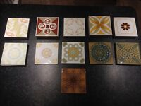 Selection of Italian and Spanish tiles from the 70's