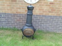 STUNNING CAST IRON LARGE CHIMINEA FIRE PIT (not the cheap ones) VERY SOLID SET