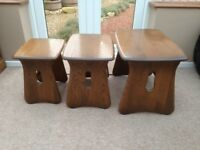 ERCOL NEST OF TABLES (WINDSOR) NEW STYLE