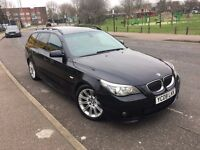 BMW 530D M SPORT DIESEL TOURING AUTOMATIC 2008 PANORAMIC SUNROOF SAT NAV HEATED LEATHERS XENON