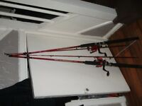 Fishing rods (NEW) shakespear 7ft complete with reel and line