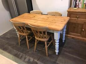 **Lovely Farmhouse Table and Chairs**