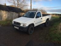 Toyota hilux single cab 2.5.d4d over 4 months mot very good condition for age drives brilliant