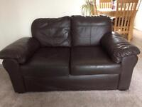 X2 Two seater leather sofas. Very good condition £80 (for both)