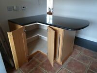 Complete kitchen - cabinets, doors, plinths, cornices and black granite worktops