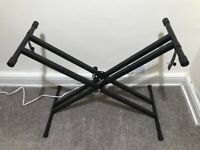 Keyboard Stand with twin braced X frame