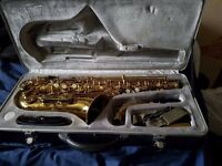 Alto saxophone for sale, full setup with case, open to offers