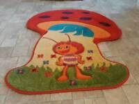 Kids mushroom carpet mat