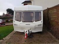 Lunar Jupiter 5 Berth Touring Caravan very good condition, one owner from new