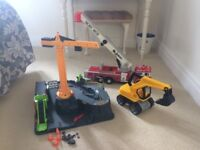 Free school toys. ELC set / fire engine / digger