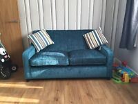 DFS 2 seater sofa bed in teal