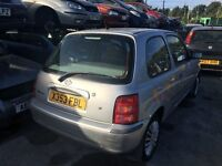 2000 NISSAN MICRA S (MANUAL PETROL)- FOR PARTS ONLY