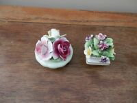 Adderley and Thorley porcelain bouquets