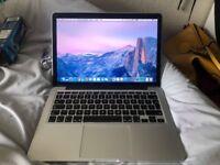 Macbook Pro 13 inch retina display late 2013