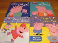 Peppa Pig hard cover books x 4