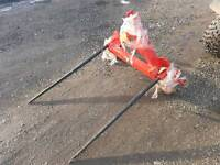 Brand new tractor three point linkage folding bale spike