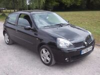 2006 RENAULT CLIO CAMPUS SPORT 1.2, MOT 27TH OCTOBER 2017, ONLY £495