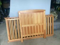 Baby cot - incl matrass - two different heights