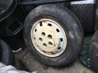 Part worn 205 70 15C tyre