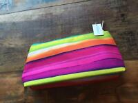 Multi coloured Clinique Toiletry / Make up Bag -BNWT