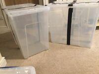 LARGE STORAGE BOXES & LIDS
