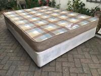 Kingsize divan bed with mattress-£60 delivered