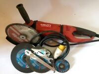 Hilti DCG 230 110v Angle Grinder in Excellent Condition with spanners etc.