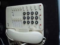B / T WHITE TELEPHONE WITH LARGE NUMBERS