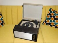 Vintage 1960's Defiant record player, fully working, serviced