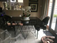 Glass dinning table seats 8