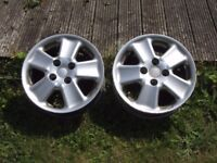 "Set of TWO 14"" Alloy Wheels - Mille Miglia Synthesis PCD 4x100, 6Jx14H2, from Mazda MX5 mk2"