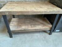 Rustic selvedge side table 100x60x60cm