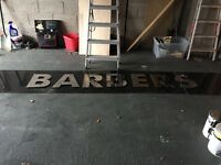 Barbers shop sign