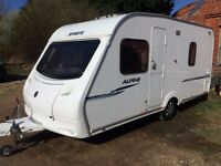 sprite alpine 2008 model all paperwork 4 berth fixed bed,mint condition,no damp,no dents,